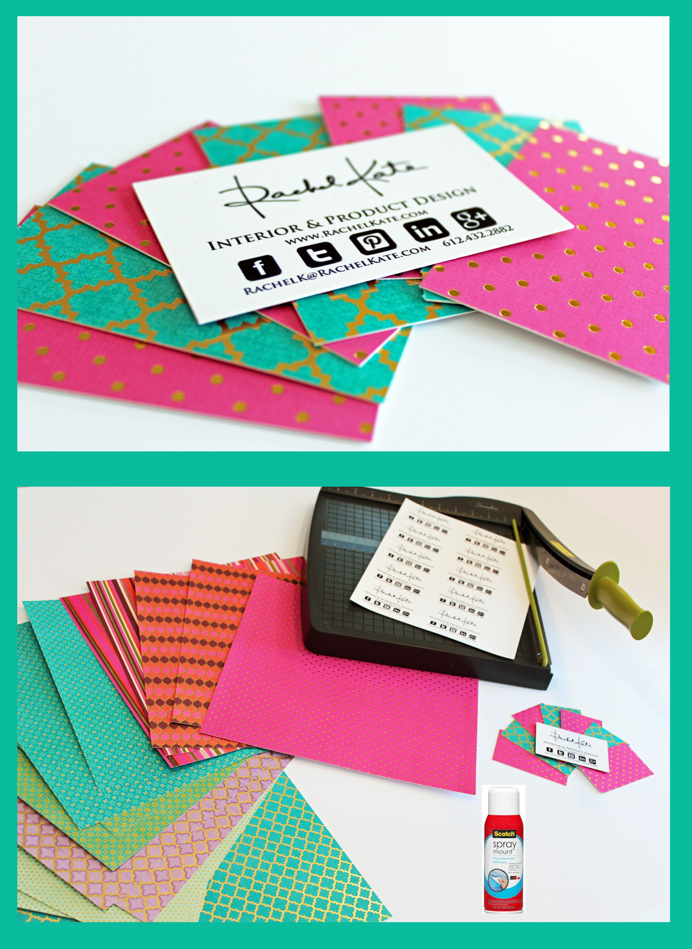 Craft paper business card paper