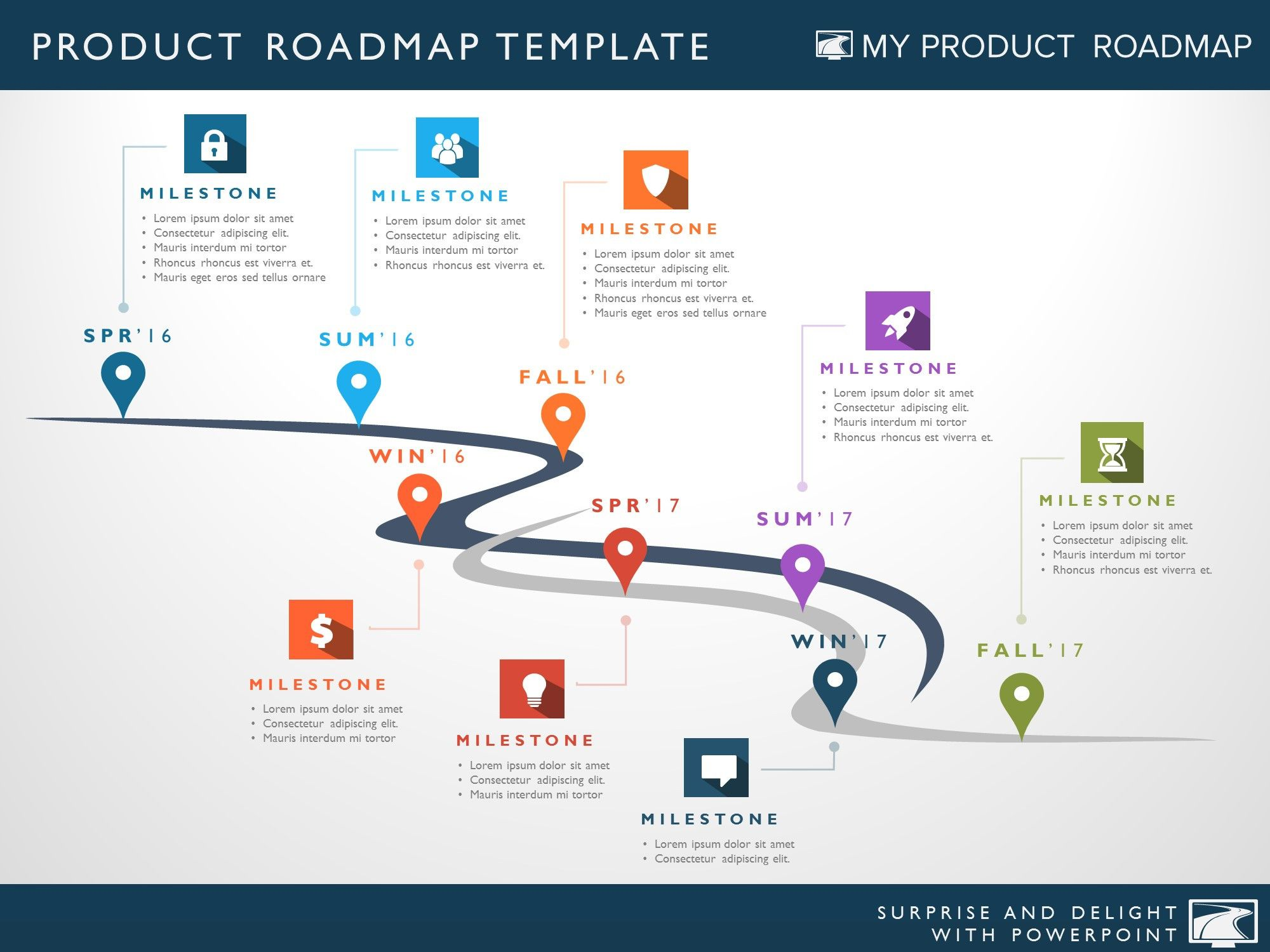 microsoft office portfolio template - eight phase software planning timeline roadmap powerpoint