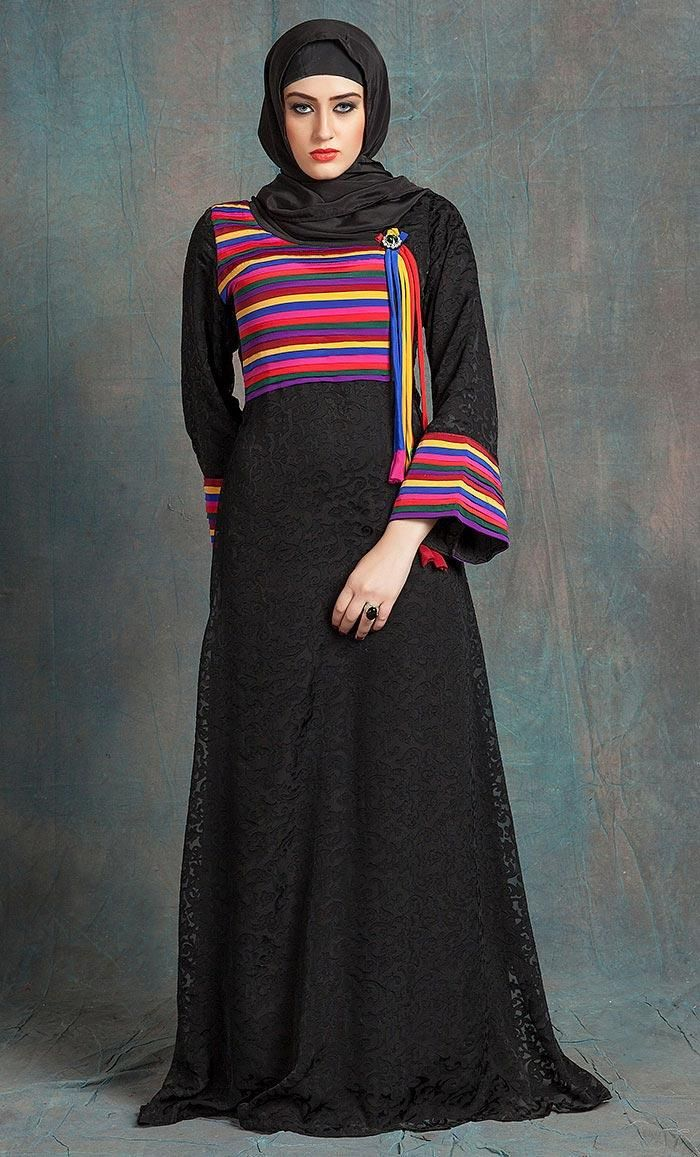Kilam kilam black and multicoloured color casual maxi dress with