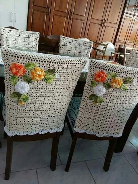 Capa Pra Cadeira Muebles De Ganchillo Casa De Ganchillo