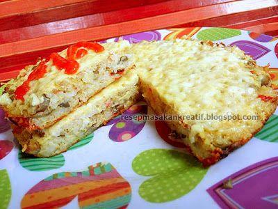 Resep Omelet Nasi Keju Jamur Kancing Makanan Resep Masakan Resep Masakan Indonesia