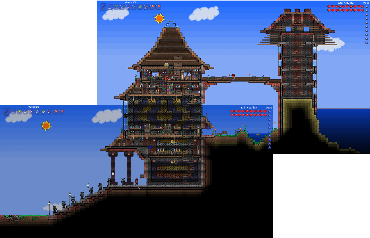 Epic terraria house terraria board pinterest for Epic house designs