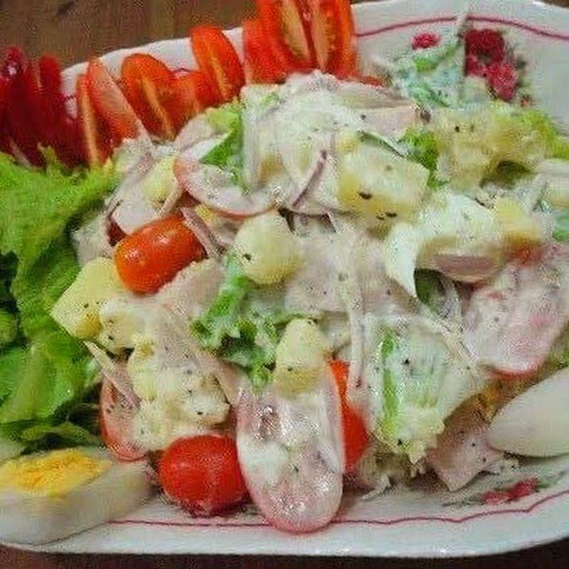 Resepi Salad Kentang Thousand Island Jom Salin Resepi Sayur Ni Nampak Senang Tolong Share Banyak2 Like Fb Kami Ye Kentang Salad Kentang Resep Salad