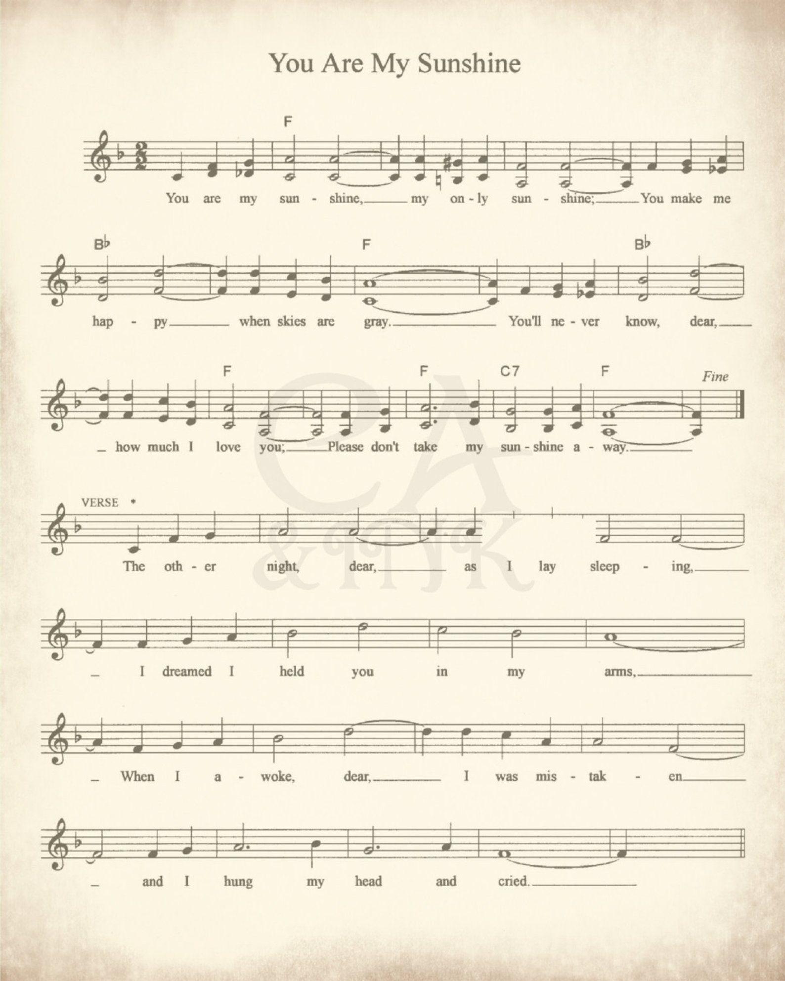 Sheet Music Art Lullaby Sheet Music Sheet Music Prints Sheet