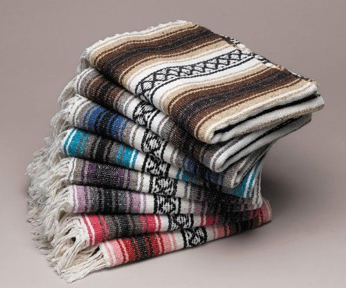 Bulk Throw Blankets 5 Pack  Five Large Authentic Mexican Falsa Blanket Throw Yoga