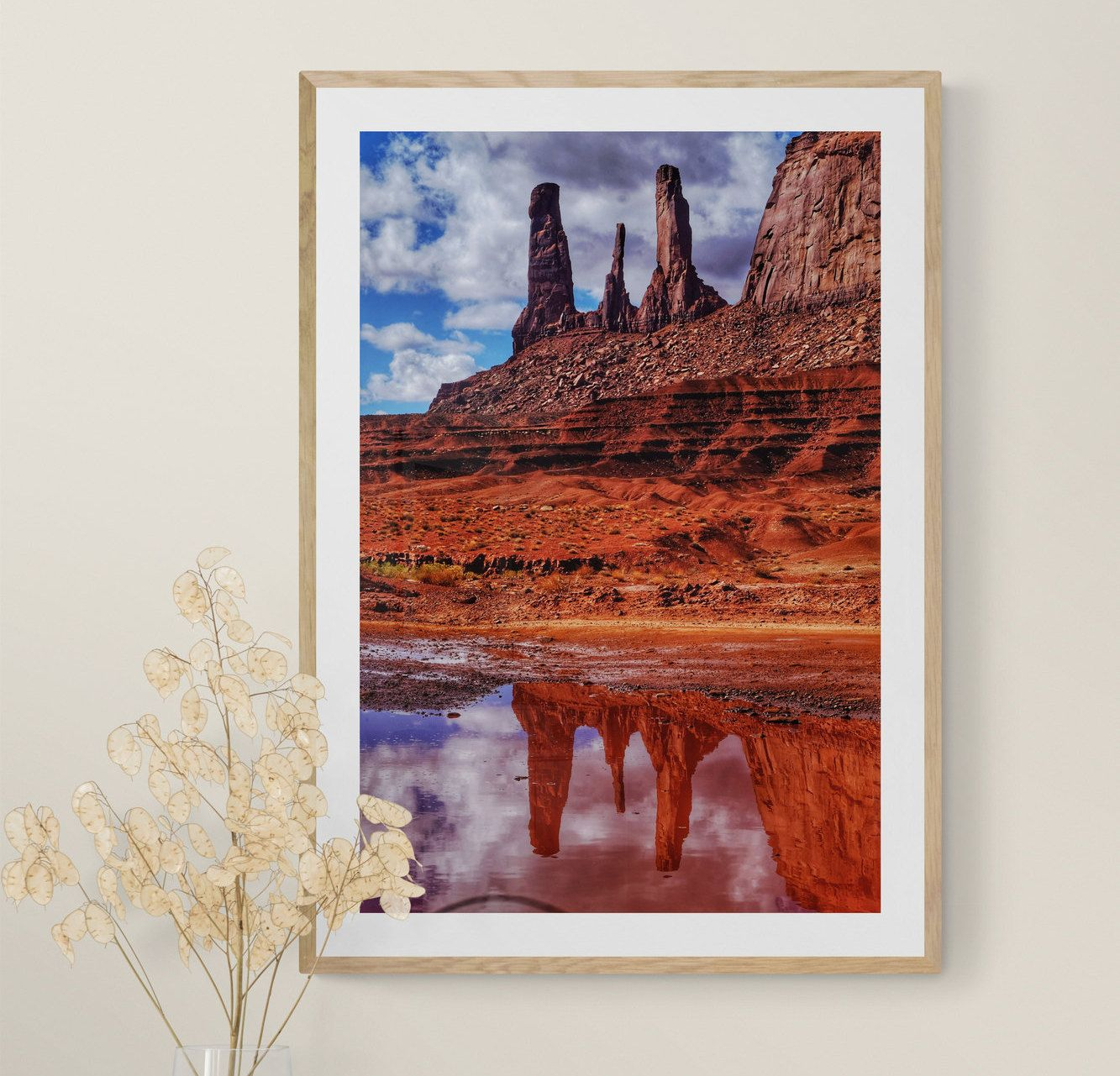 Monument Valley Photo, Reflection Photo, Arizona Wall Art, Arizona Home Decor, Southwestern Decor usa #LargeWallArt #DesertPhotography #ArizonaWallArt #SouthwesternDecor #NavajoPhoto #ArizonaPhotography #ReflectionPhoto #MountainWallArt #UtahPhotography #MonumentValley