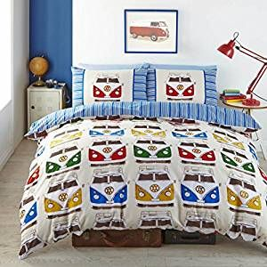 Vanlife Vw Bulli Bettwäsche 52 Polyester Und 48 Baumwolle