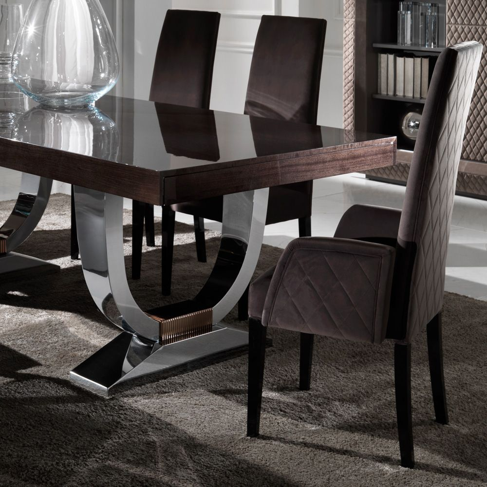 Contemporary Italian Dining Room Furniture Captivating Large Modern Italian Veneered Extendable Dining Table Set Decorating Inspiration