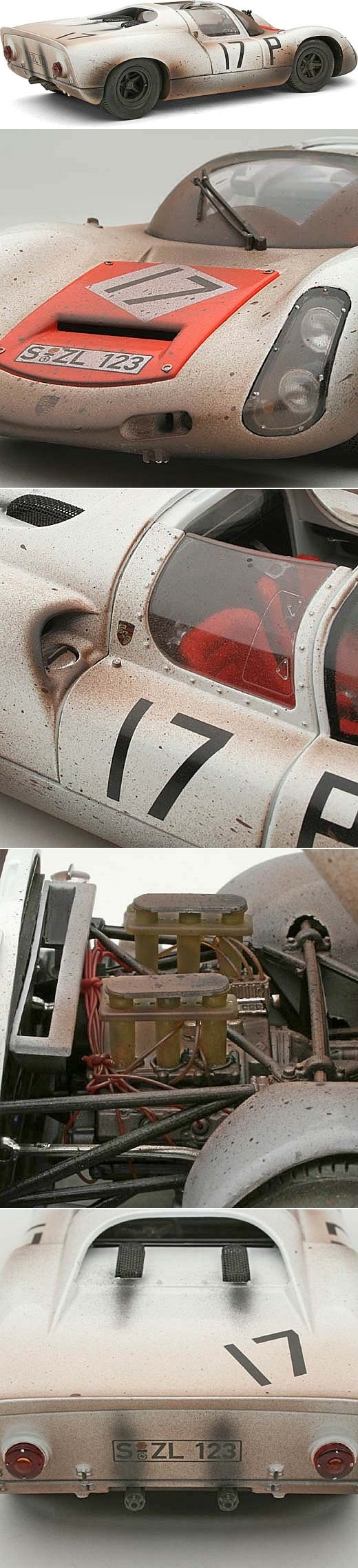 Exoto 1:18 1967 Porsche 910 #17- Schutz/Buzzetta- Nurburgring- Race Weathered- Ltd Ed of 67 http://www.diecast.org/diecast98/html/asp/list_reviews/xq/ASP/id.EX00066-FLP/qx/reviewpix.htm