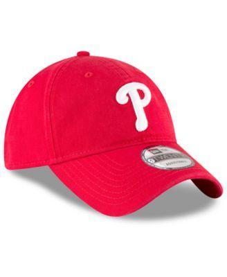 lowest price df533 863d1 New Era Philadelphia Phillies On Field Replica 9TWENTY Fitted Cap - Red  Adjustable
