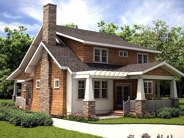 Plan 18255be 3 bedroom storybook bungalow garage doors for Garage with porch