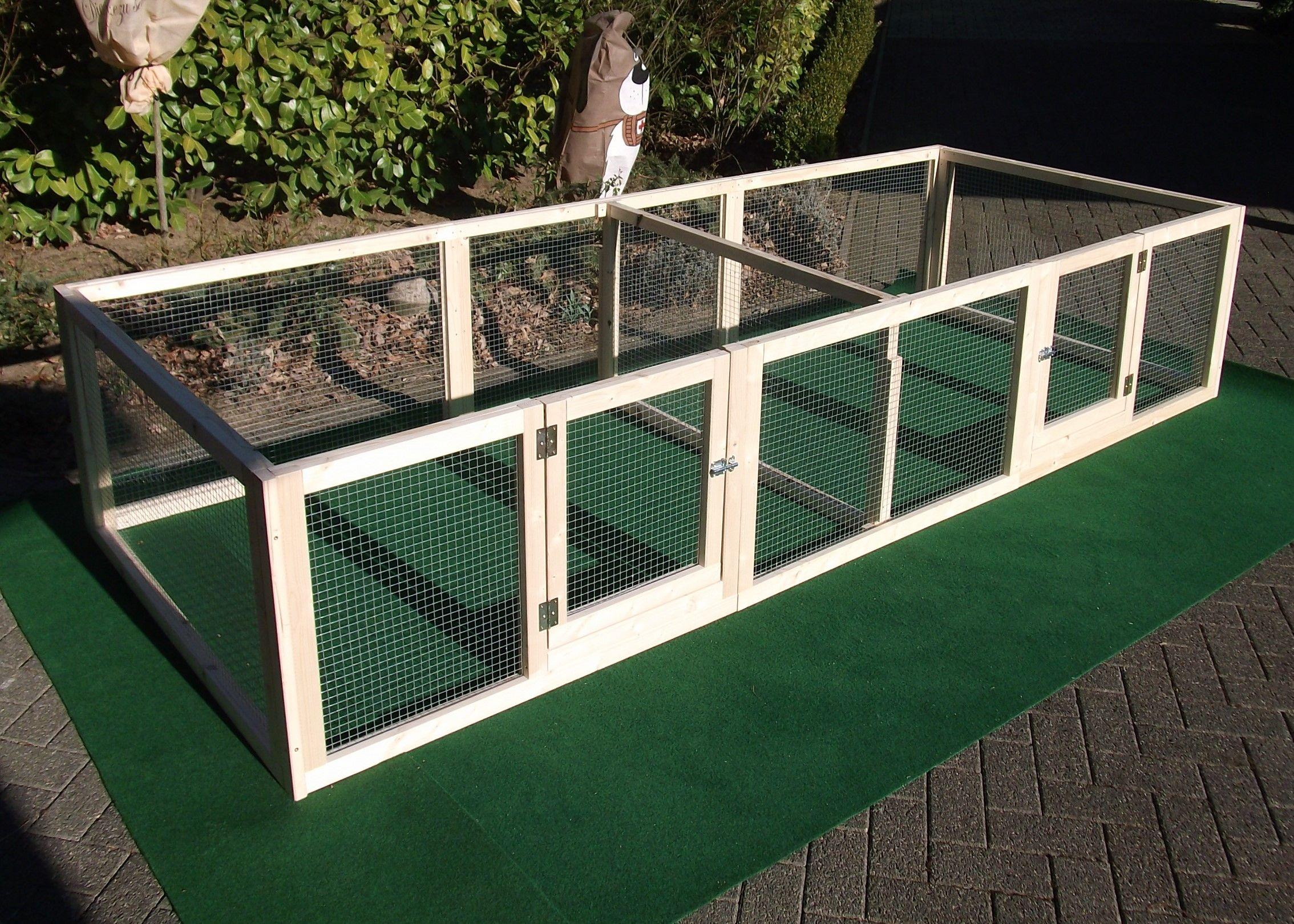 Hohe 60 Cm Mit Trennwand 2 Turen Kaninchengehege Aussenmobel