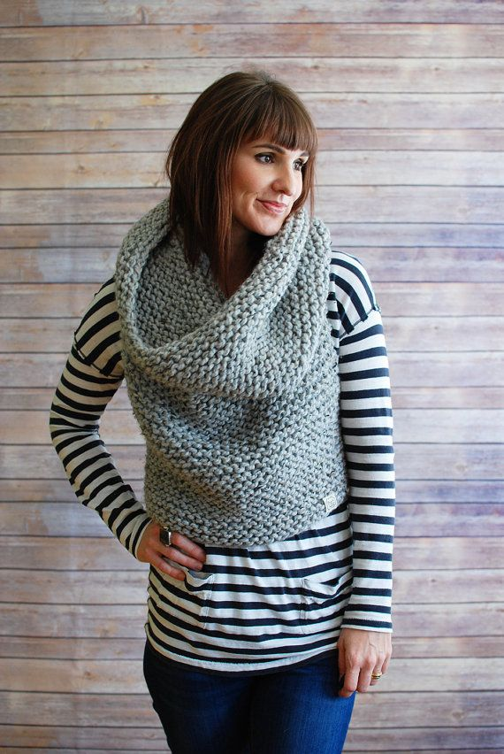 The Mavis + Chunky Knit Hooded Cowl Vest + Made to Order | Herbst ...