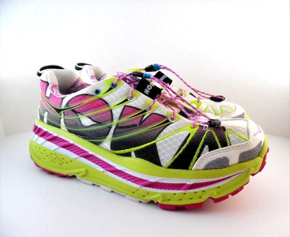 quite nice 35b9c c6059 Womens HOKA ONE ONE STINSON ATR TRAIL RUNNING SHOE Yellow Pink Size US 9.5  HokaOneOne RunningShoes