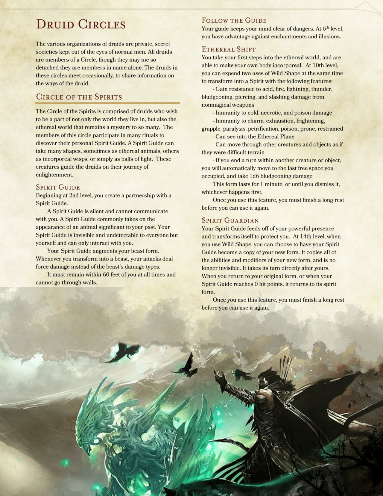 DnD 5e Homebrew — Circle of the Unspeakable by The Middlefinger of ...