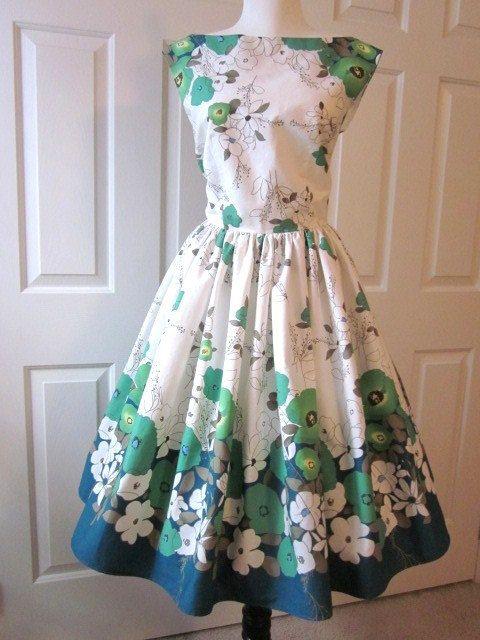Vintage Garden Party Dress - Ocodea.com