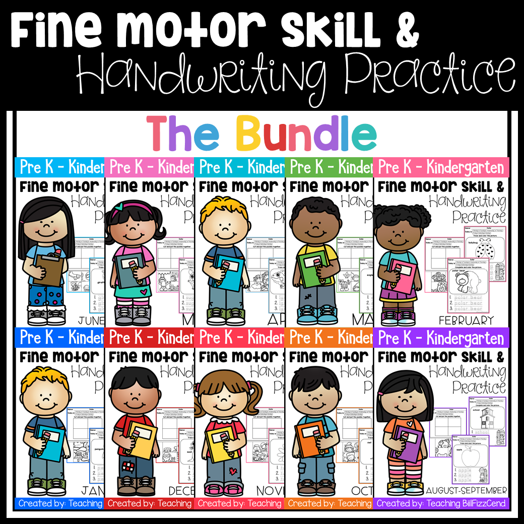 Fine Motor Skill And Handwriting Practice Growing Bundle