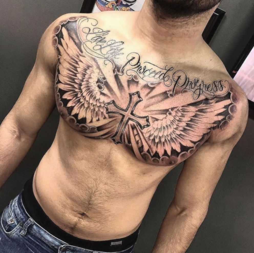 19 Drawing Hand Video Praying Chest Tattoo Men Cool Chest Tattoos Tattoos For Guys