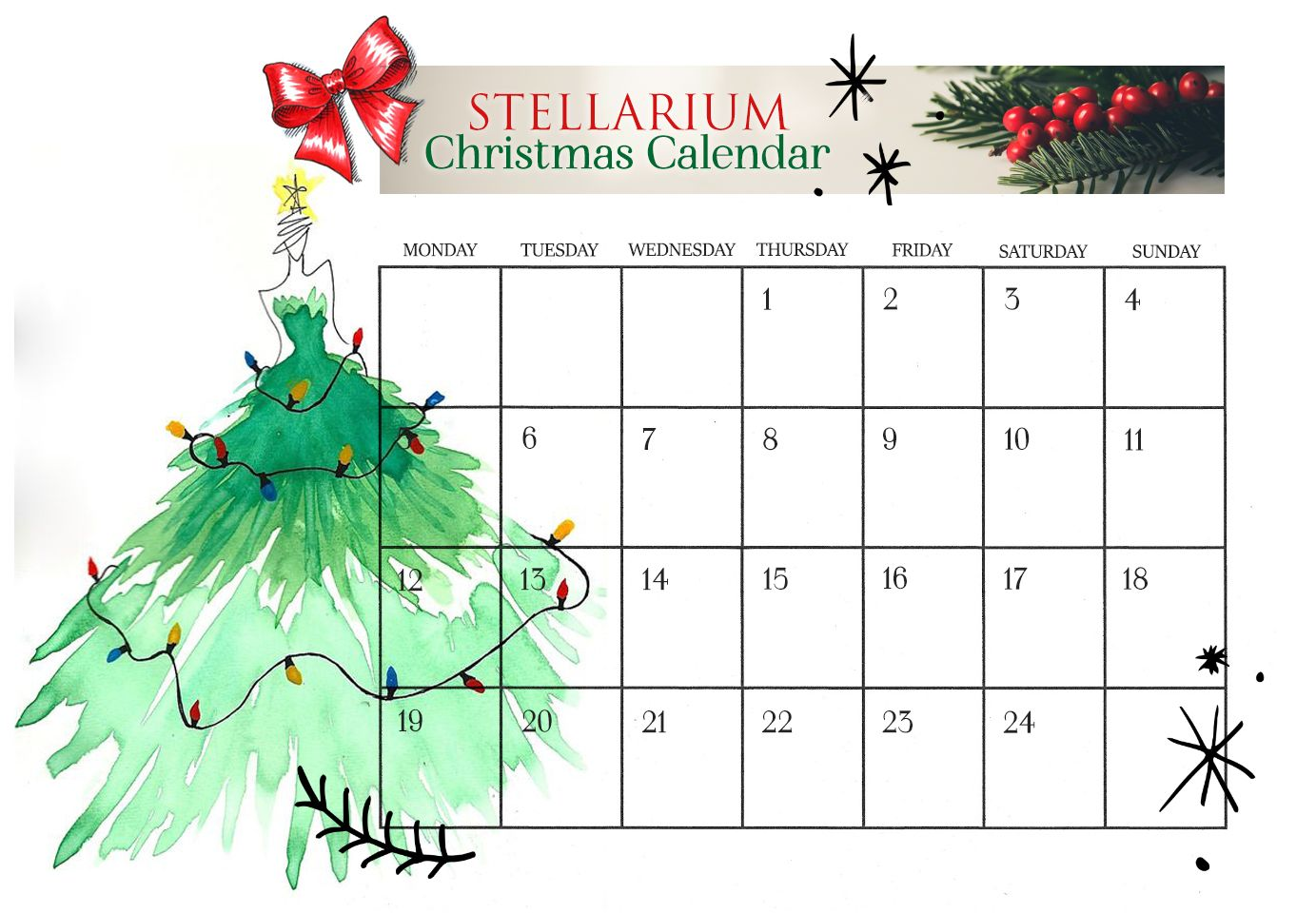Traditions cannot be broken, so we're starting our wonderful worth Christmas advent calendar at Stellarium - every day one reader will get a...