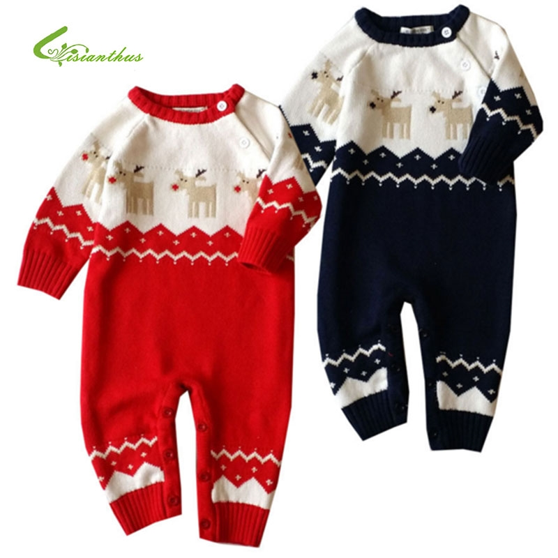 6468e78993f2 18.04  Buy here - Baby Rompers Winter Thick Climbing Clothes Newborn Boys  Girls Warm Romper