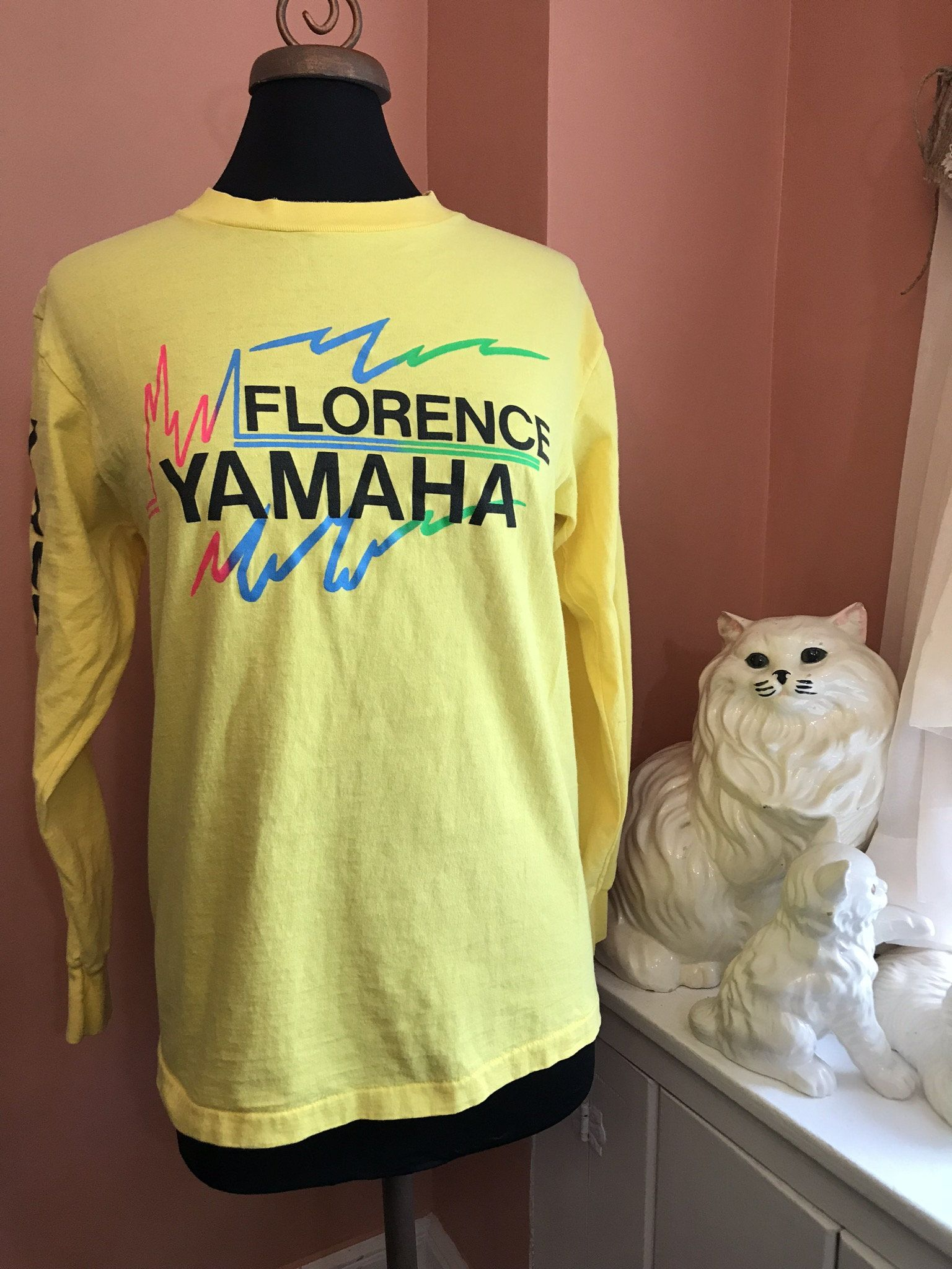 80s T Shirt Vintage Yamaha Racing Vintage 80s Jersey Florence Yamaha Suzuki Dirt Bike Motorcycle Trucks Off Yamaha Classic Cars Vintage Yamaha Racing