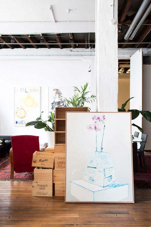 Julian Meagher's Sydney studio. Photo - Phu Tang.
