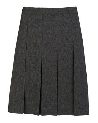 30fe48c99f Ladies' Gray Pleated Skirt Top Marks, Pleated Skirt, School Uniform, Mini  Skirts