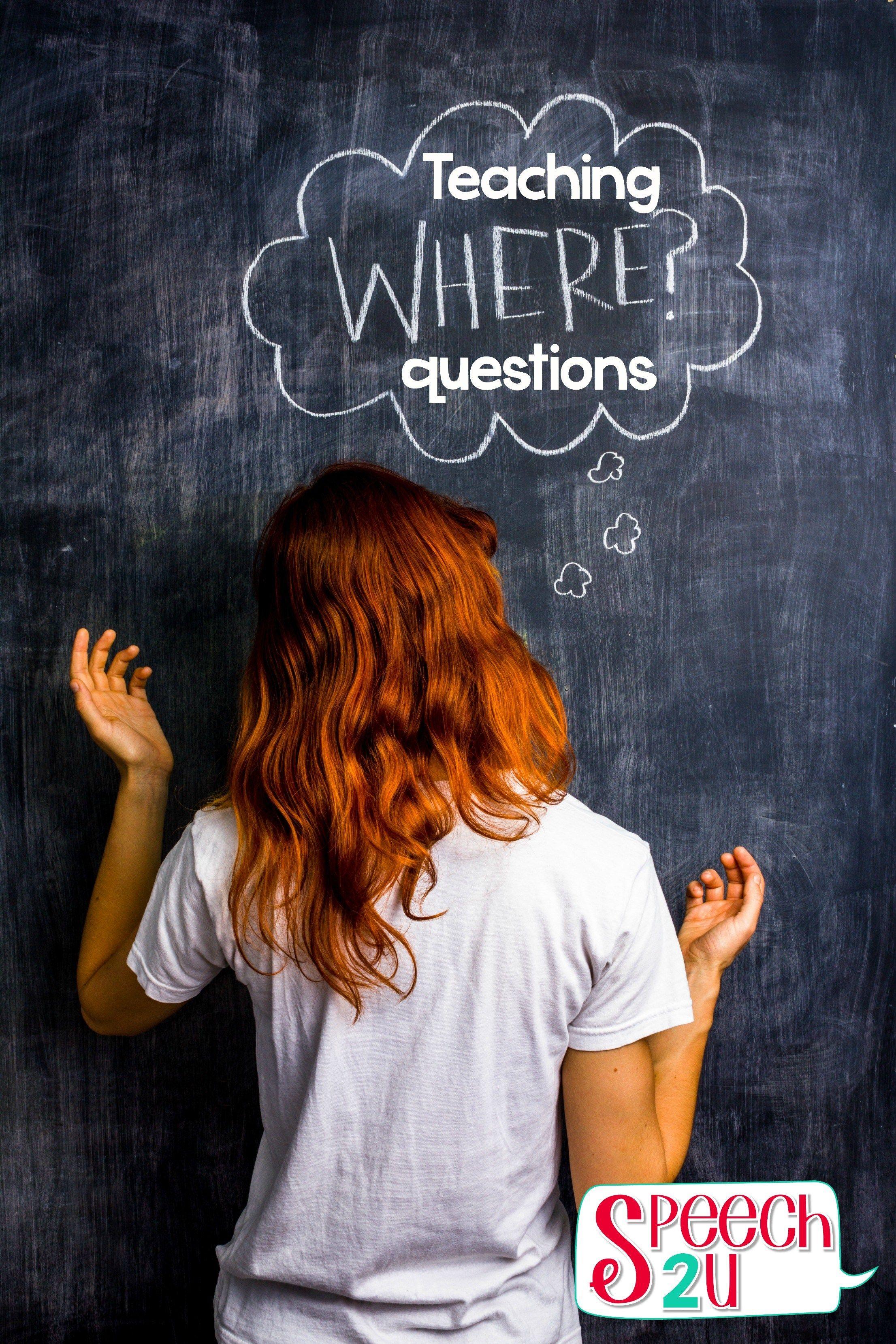 Teaching Where Questions
