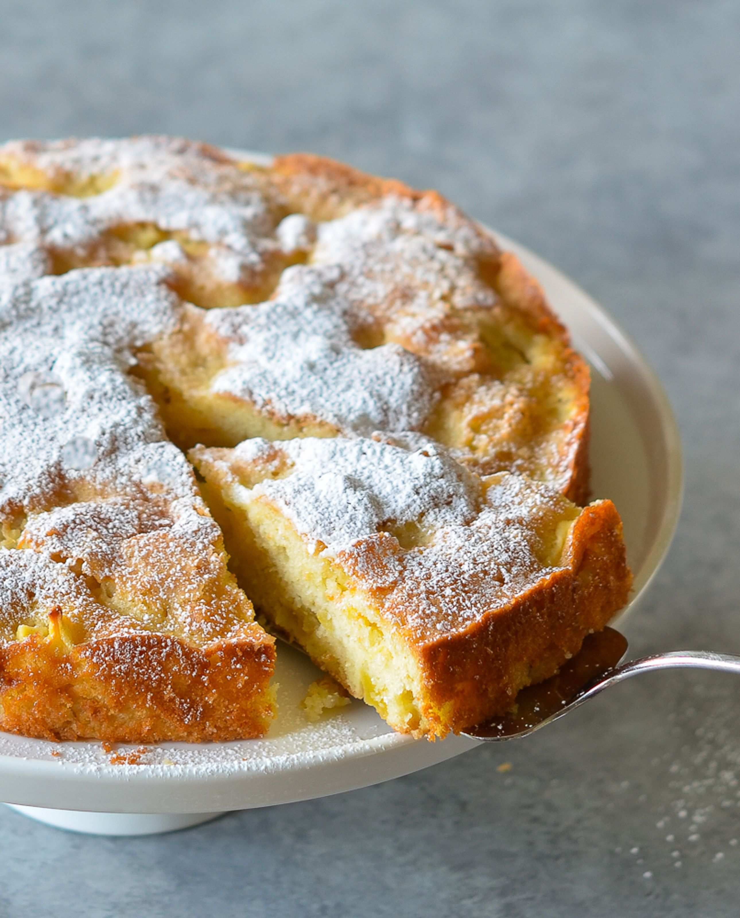 french food #food #foods Beautiful and delicious, this French Apple Cake is made with chunks of sweet apples nestled in a tender, buttery rum cake.