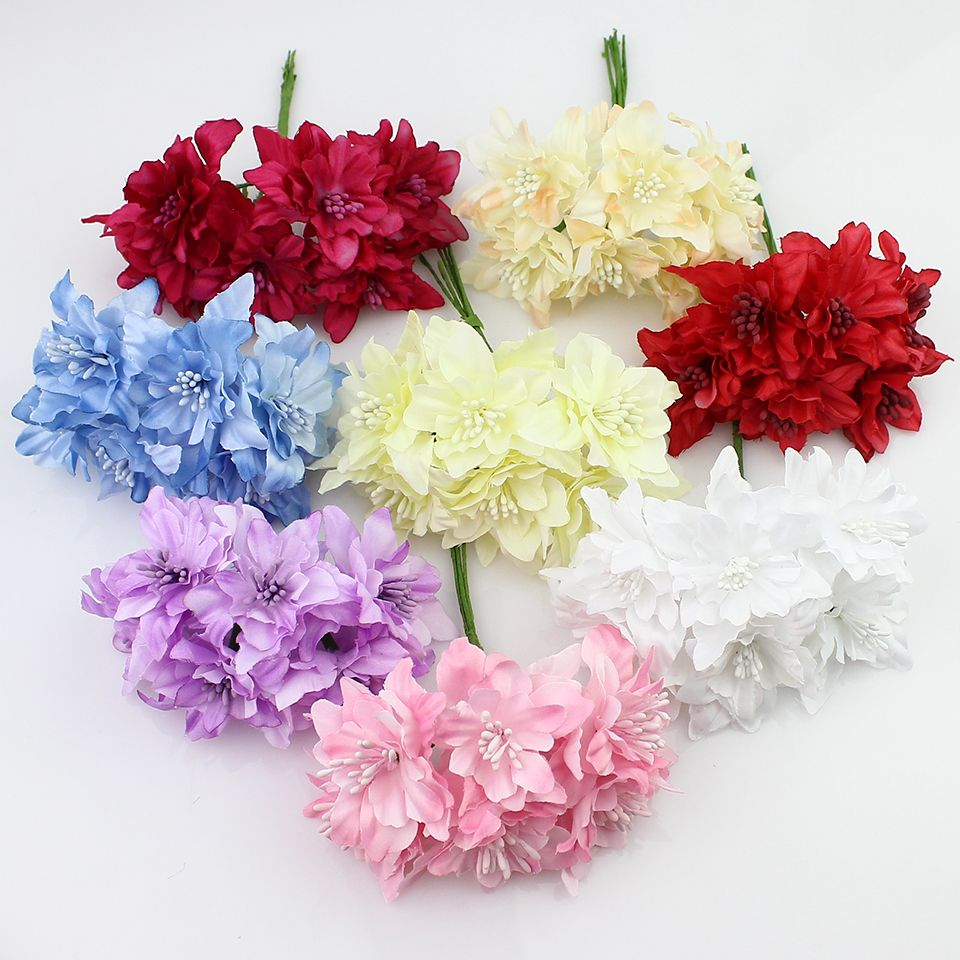 6pieces 5cm artificial orchid flowers bouquetsilk lily flower for cheap lili buy quality flower pattern bed sheets directly from china lily pearl suppliers artificial orchid flowers bouquetsilk lily flower for wedding izmirmasajfo