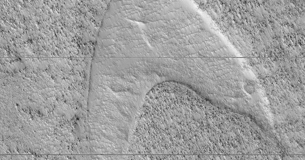 NASA spots a telltale 'Star Trek' sign on Mars Star trek