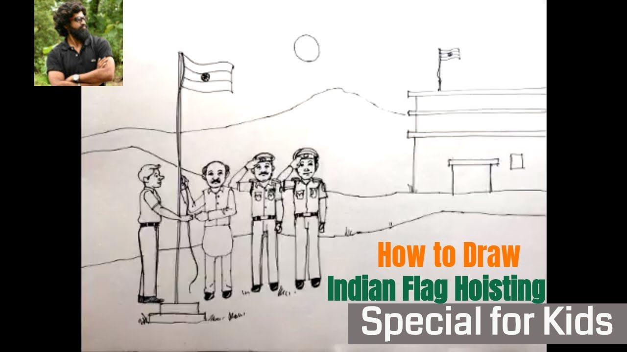 How To Draw Indian Flag Easy Independence Day 15 August Drawing For Kids Learn Art For Beginners Youtub Independence Day Drawing Drawing For Kids Learn Art