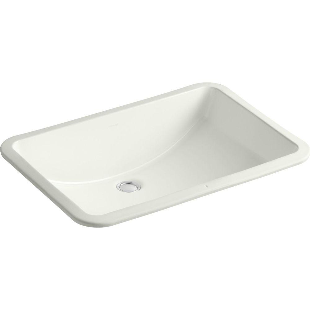 Kohler K 2215 0 Ladena White Undermount Single Bowl Bathroom Sinks Efaucets Com Rectangular Sink Bathroom Undermount Bathroom Sink Bathroom Sink