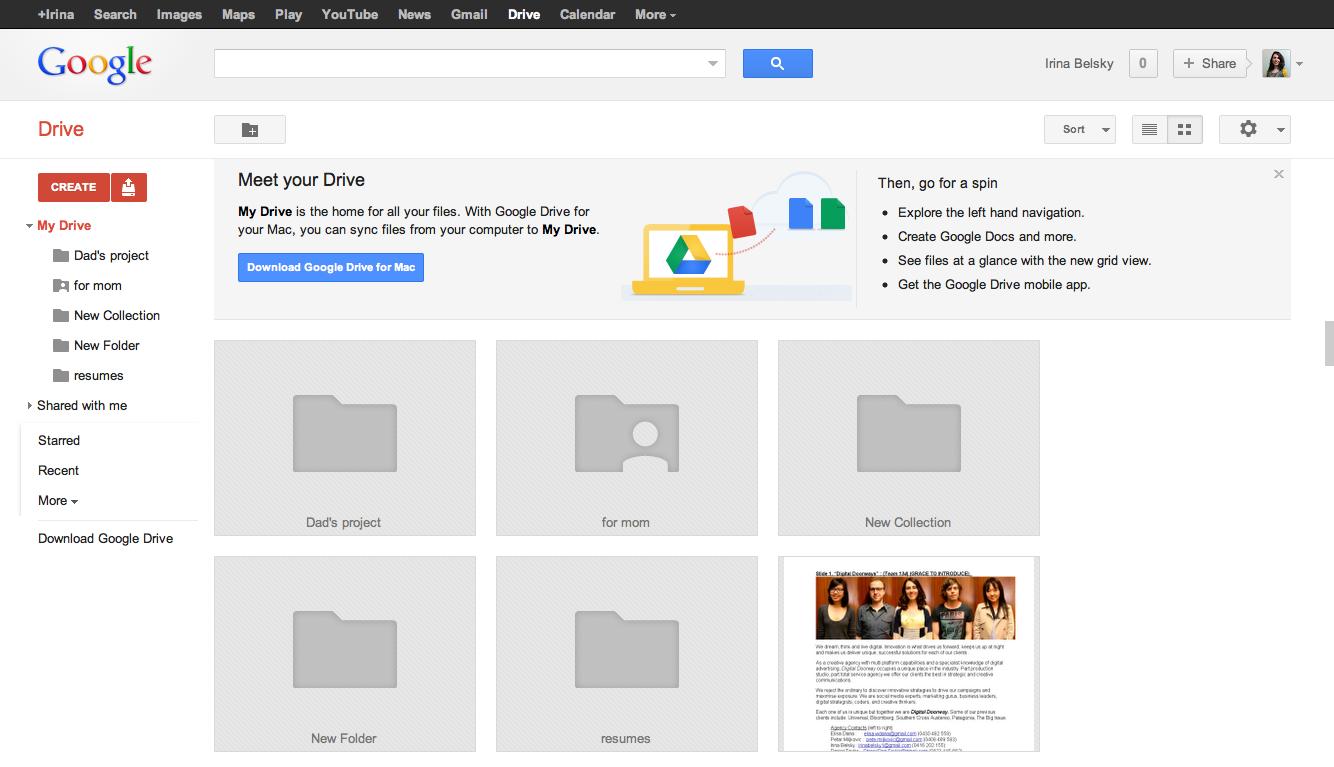 My Google Drive. Freshly pressed. #Google #Cloud
