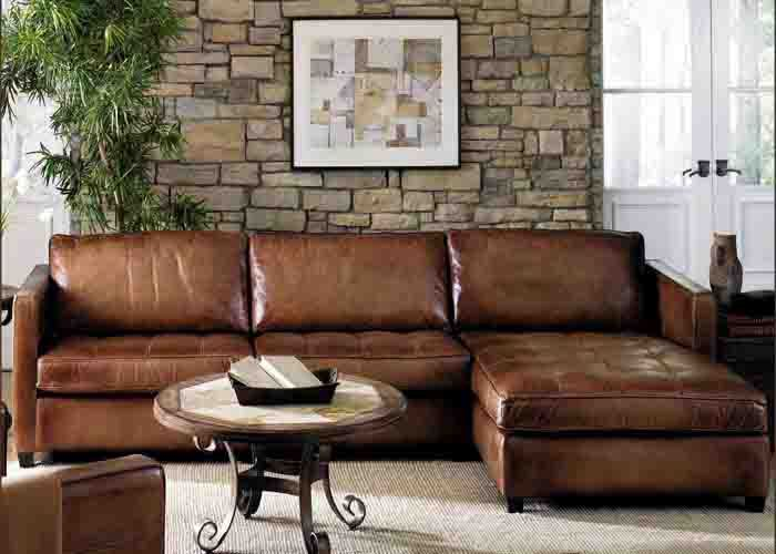 Amaretto Artistic Leather Sectional Town Country Leather