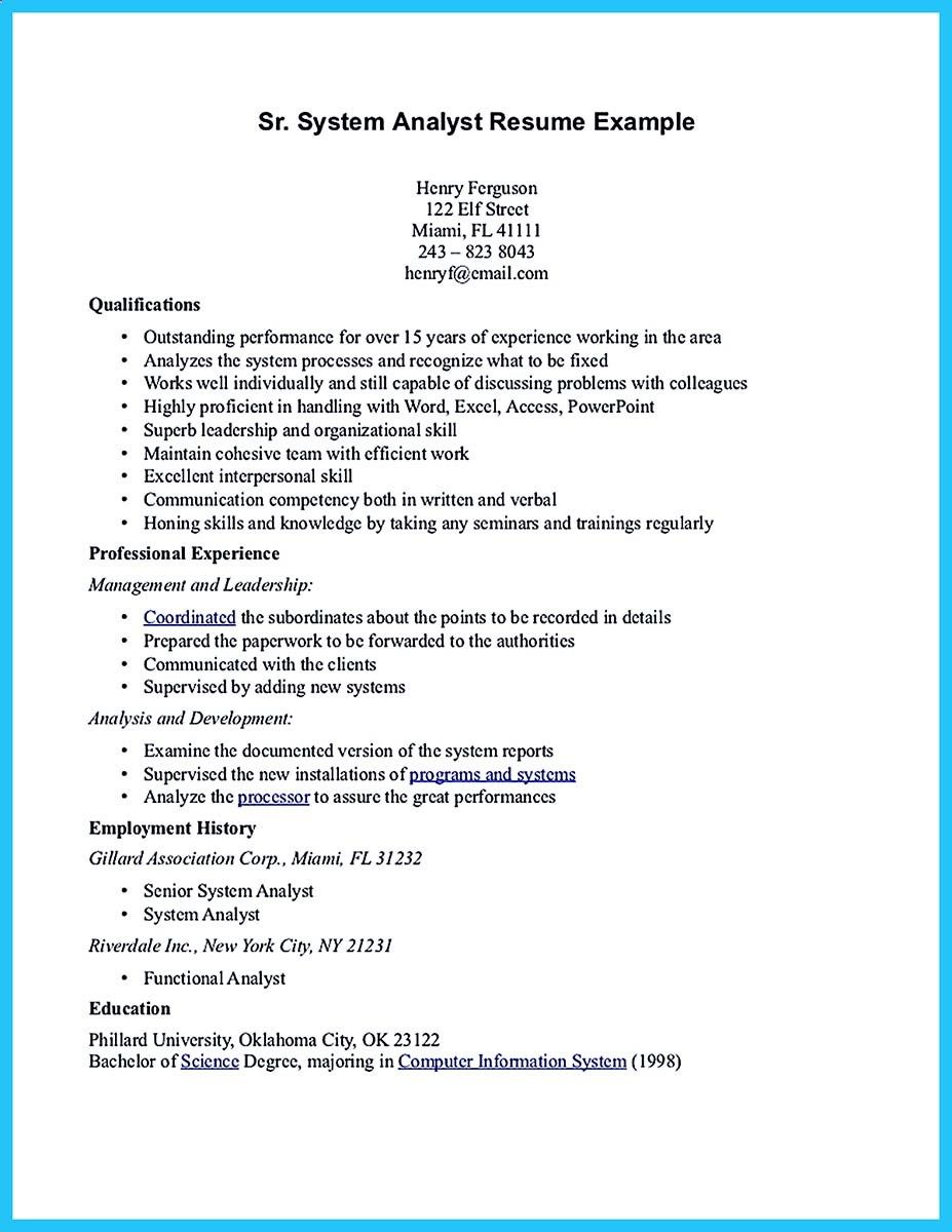 If You Are A Business Analyst And You Just Seeking For A Job In A Big Company You Should Convince Your Employe Business Analyst Resume Business Analyst Resume