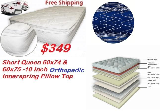 60 X 75 10 Inch Orthopedic Inner Spring Pillow Top Mattress 349 Free Shipping Campers