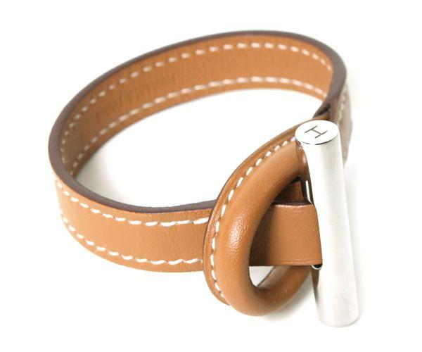 Hermes Natural leather bracelets BRACELET OSIRIS butt S-Now $123