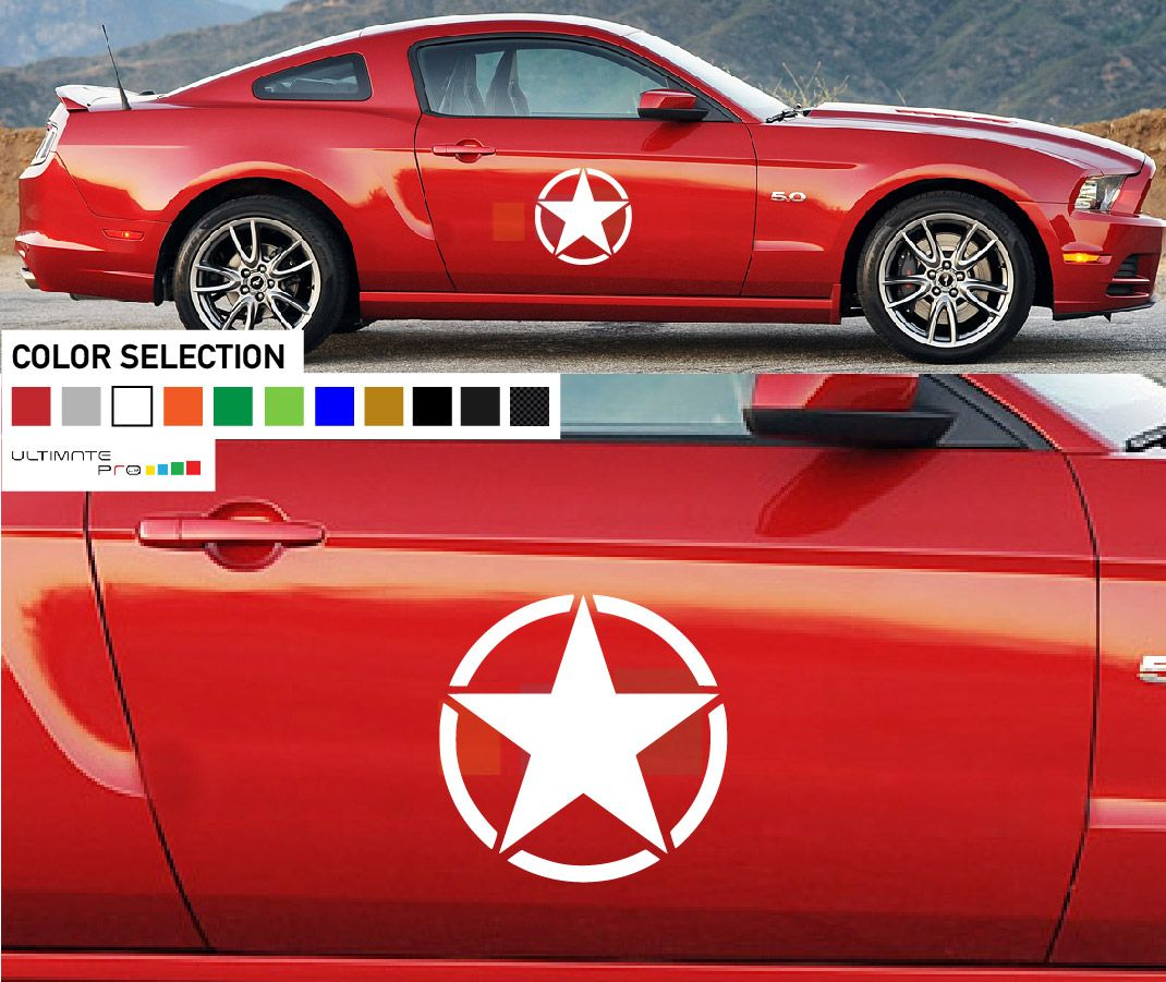 Car Decals Stickers And Vehicle Graphics From Ultimate Pro Star Decals Mustang Ford Mustang [ 901 x 1070 Pixel ]