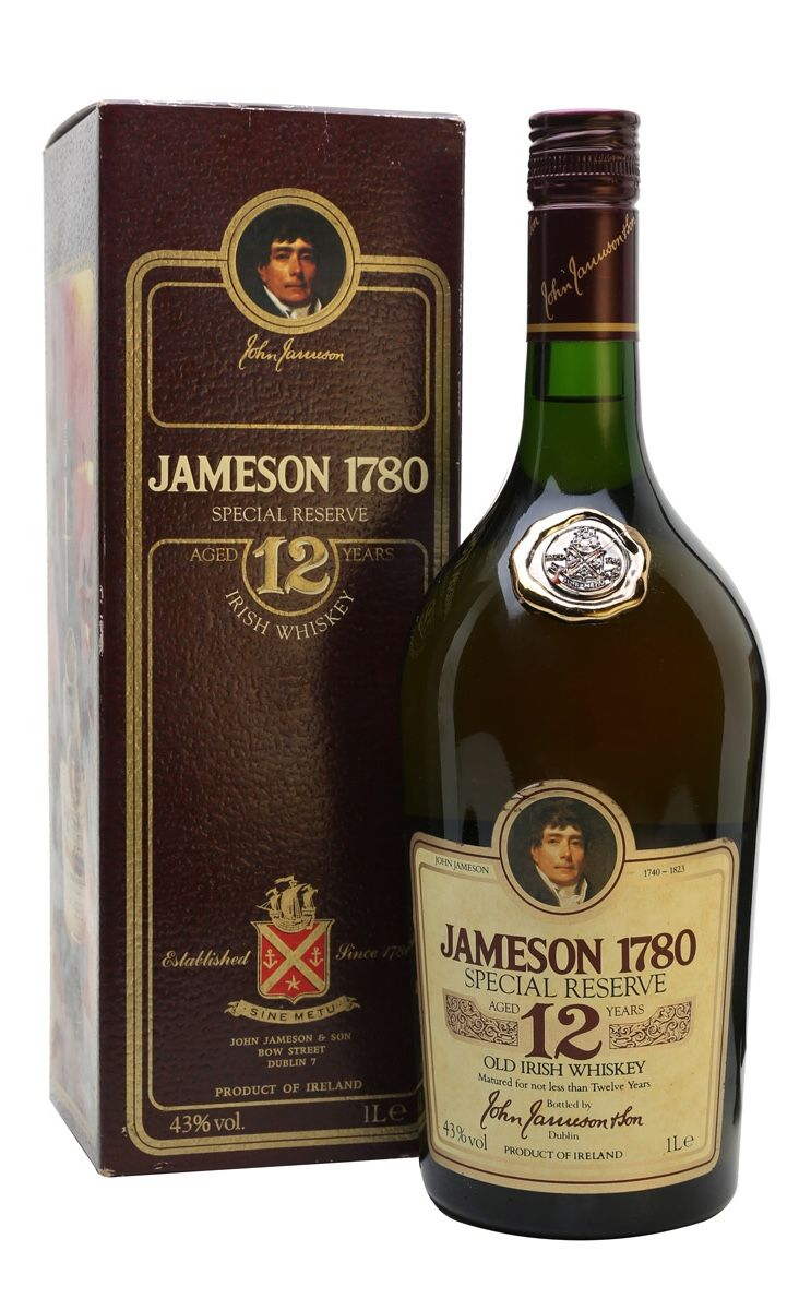 Jameson 1780 12 Year Old Bot 1980s Ireland