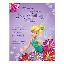 Tinker Bell 3 Birthday Invitation invitations