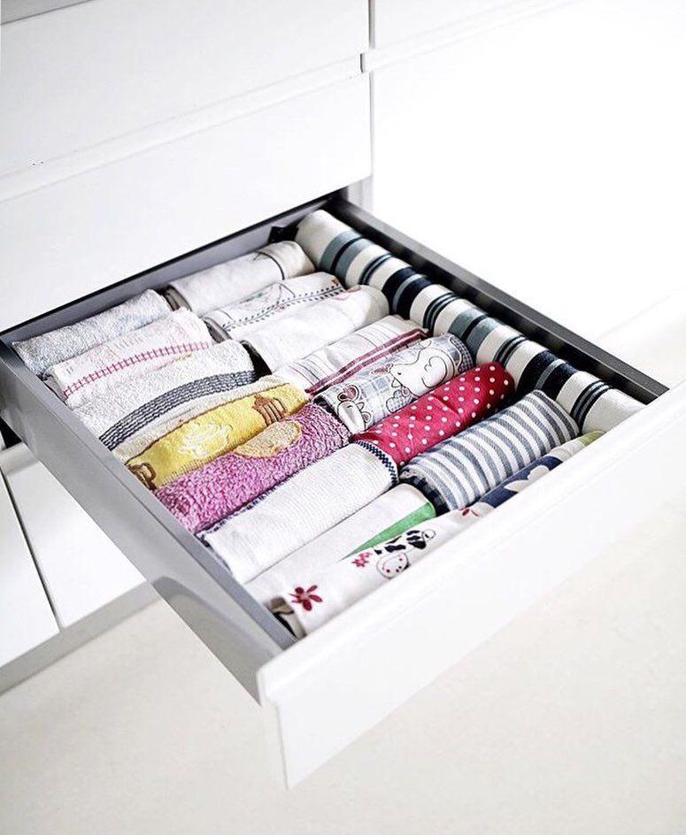 Marie Konmari Kondo On Instagram Konmari Folded Kitchen Towels