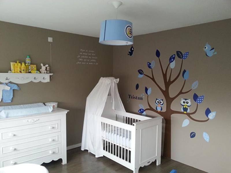 muursticker boom met uilen en vogels jongenskamer | muursticker, Deco ideeën
