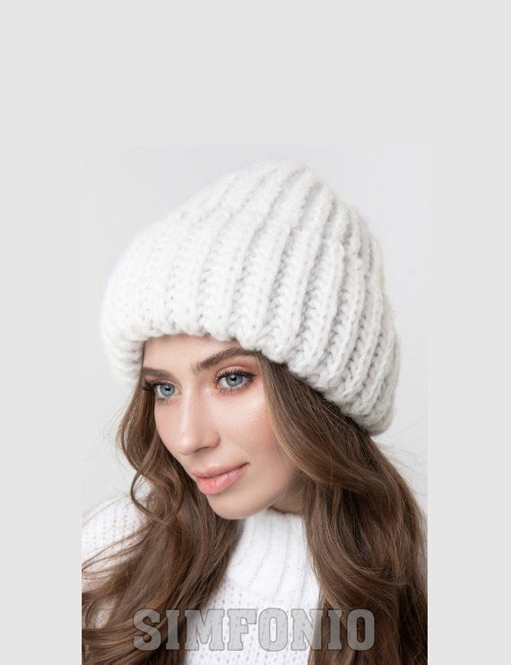 ddc766c0 Knit hat Wool hat woman Warm Chunky knit hat slouchy hat 6 colors ...