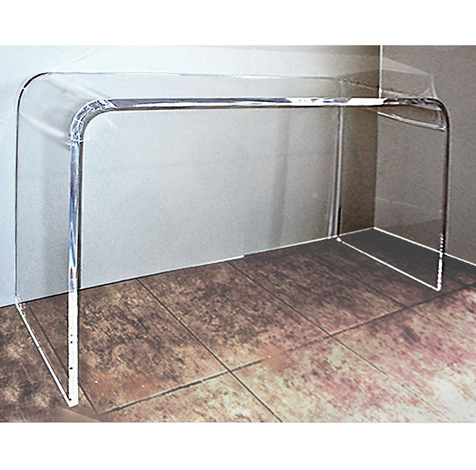 Lucite Acrylic Waterfall Console Table Crystal Clear 1 Thick
