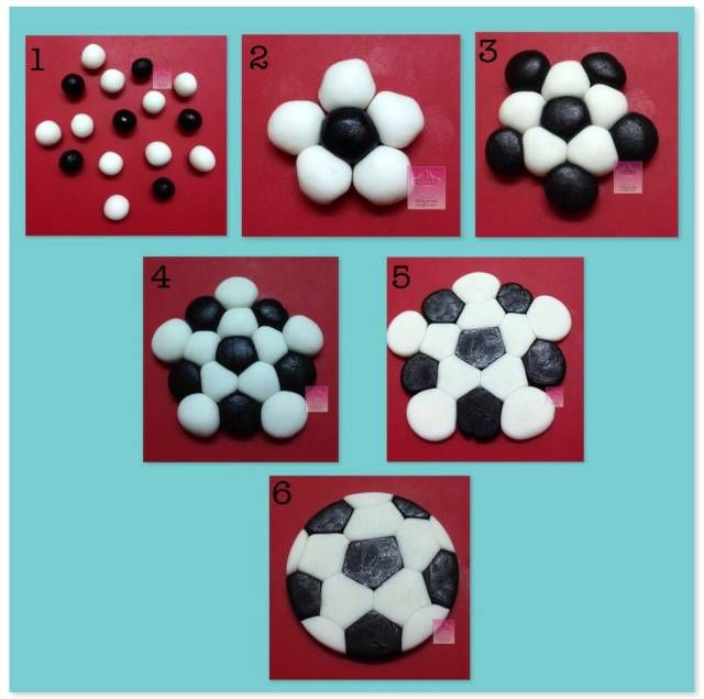 Easy Soccer Ball Topper Cake Decorating Tutorials Fondant Cupcakes Soccer Cake
