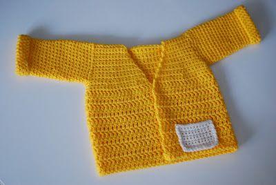 Keltainen neule vauvalle