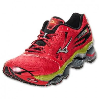 Tenis Mizuno Men S Wave Prophecy 2 Running Shoe Red Tenis Mizuno