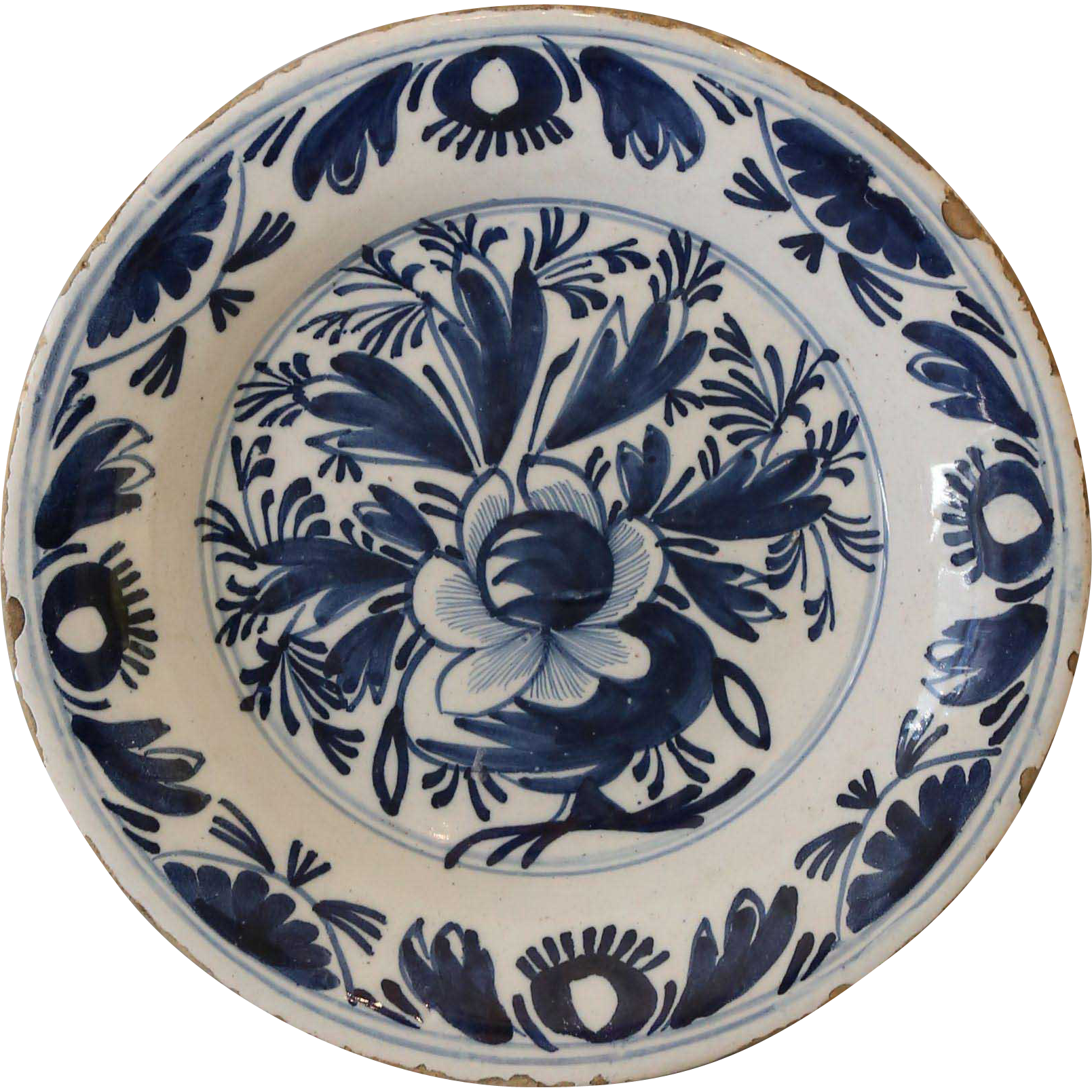 Early 18thc Delft Pottery Plate Early 18thc Delft Pottery Plate Pottery Plates Pottery Delft
