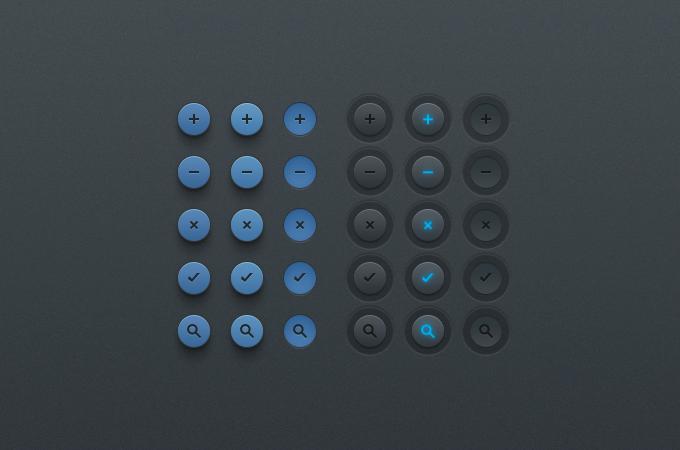 Simple Button UI (PSD) - 365psd